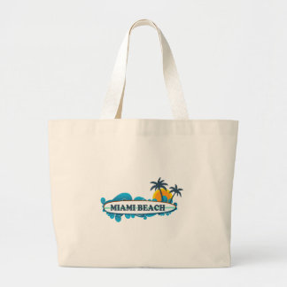 Miami Beach. Large Tote Bag