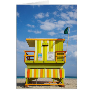 Miami Beach Life Guard Stand Greeting Card