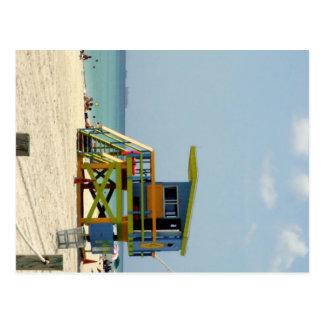 Miami Beach Lifeguard Shack Postcard