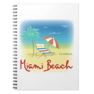 Miami Beach Palms Spiral Notebook