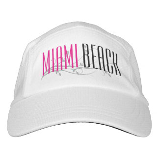 Miami Beach, Pink Women's Running Hat