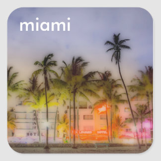 miami BEACH Square Sticker