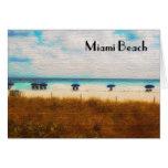 Miami Beach Umbrellas Note Card