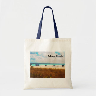 Miami Beach Umbrellas Tote Bag