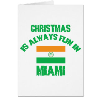 miami CHRISTMAS DESIGNS Cards