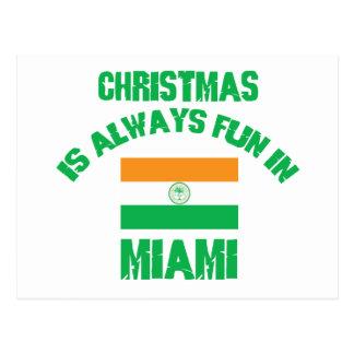 miami CHRISTMAS DESIGNS Postcards