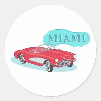 Miami Classic Corvette Classic Round Sticker