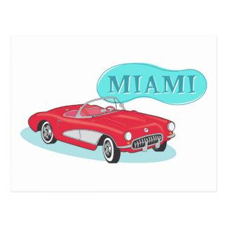 Miami Classic Corvette Postcard