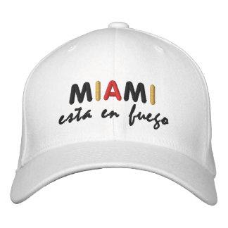 Miami Esta en Fuego Amigos! Embroidered Hat
