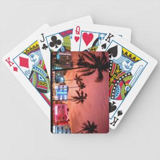 Miami Evening Skyline Playing Cards