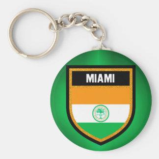 Miami Flag Key Ring