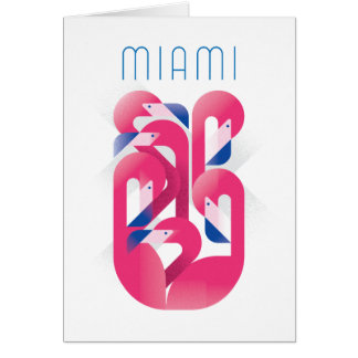 Miami Flamingo Color Card