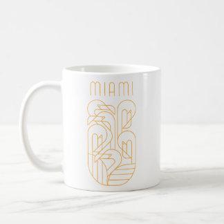 Miami Flamingo Gold Coffee Mug