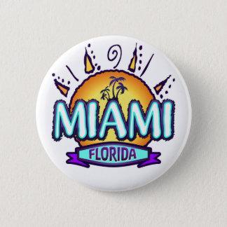 Miami, Florida 6 Cm Round Badge
