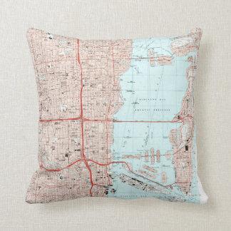 Miami Florida Map (1994) Cushion