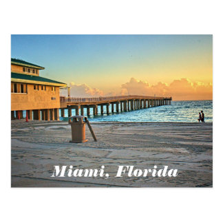 Miami Florida Newport Fishing Pier Postcard