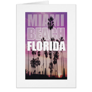 Miami Florida Palms Beach Photo, Photography Card