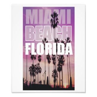 Miami Florida Palms Beach Photo, Photography Photo Print