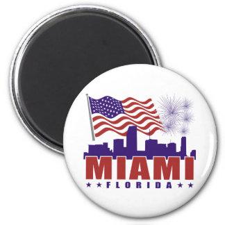 Miami Florida Patriotic Magnet