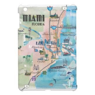 Miami Florida Retro Map Case For The iPad Mini