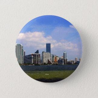 Miami Florida skyline 6 Cm Round Badge