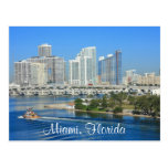 Miami Florida Skyline and Harbour Postcard