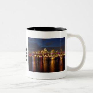 Miami Florida Skyline at Night Mug