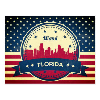 Miami Florida Skyline Postcard