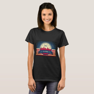 Miami Florida Skyline T-Shirt