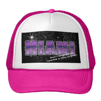 Miami Florida Sparkle Trucker Hat