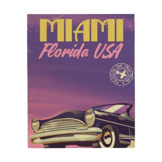 Miami Florida USA vintage poster