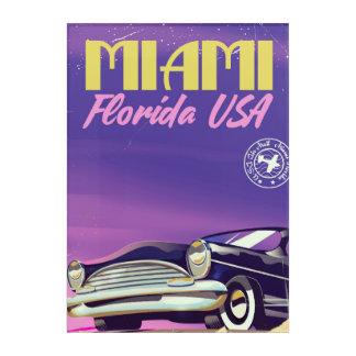 Miami Florida USA vintage poster Acrylic Wall Art