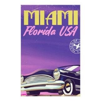 Miami Florida USA vintage poster Stationery