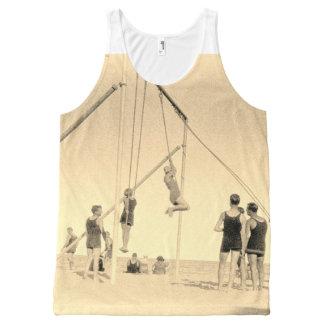 Miami Gymnastics Beach 1920s Photo Motif Vest