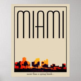 Miami illustration poster