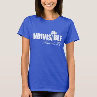 MIAMI Indivisible women t-shirt - wht logo