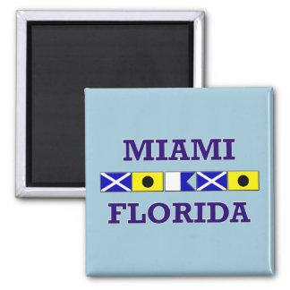 Miami Nautical Flag - Magnet