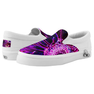 Miami Neon Flower Slip-On Shoes