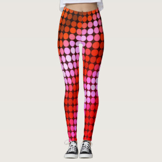 Miami Nightlife Polk Dots Leggings