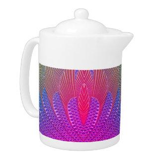 Miami Peacock Feather Teapot