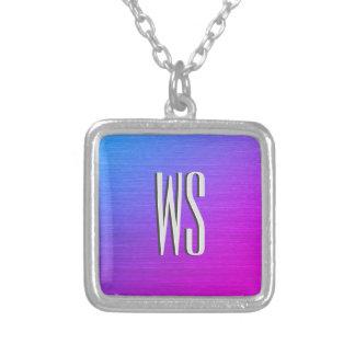 Miami Shine Monogram Silver Plated Necklace