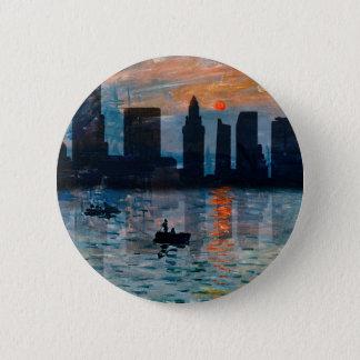 Miami Skyline 7 6 Cm Round Badge