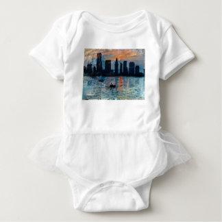 Miami Skyline 7 Baby Bodysuit