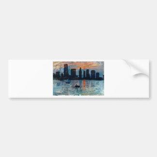 Miami Skyline 7 Bumper Sticker