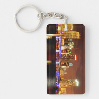 Miami skyline at night, Florida Key Ring