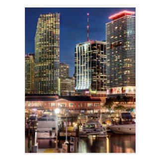 Miami skyline city in Florida Postcard