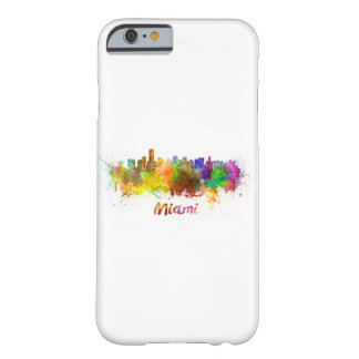 Miami skyline in watercolor barely there iPhone 6 case