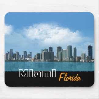 Miami Skyline Mouse Pad