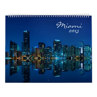Miami Skyline Photo Calendar 2013