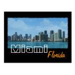 Miami Skyline Post Card